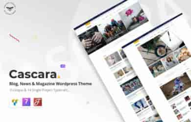 Share theme Cascara – Blog, News & Magazine WordPress Theme